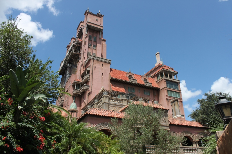 Different angle of Tower of Terror - it's quite a large building!